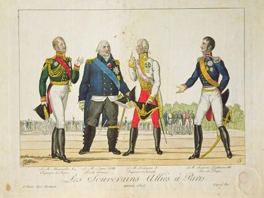 The Allied Sovereigns in Paris in 1815