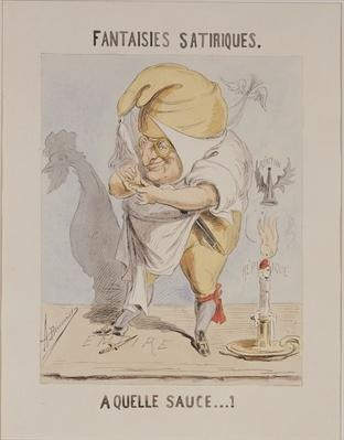 Satirical Fantasies, caricature of Adolphe Thiers