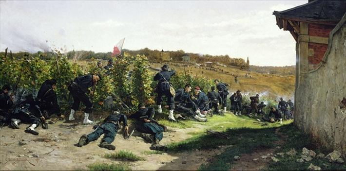 The Tirailleurs de la Seine at the Battle of Rueil-Malmaison, 21st October 1870, 1875