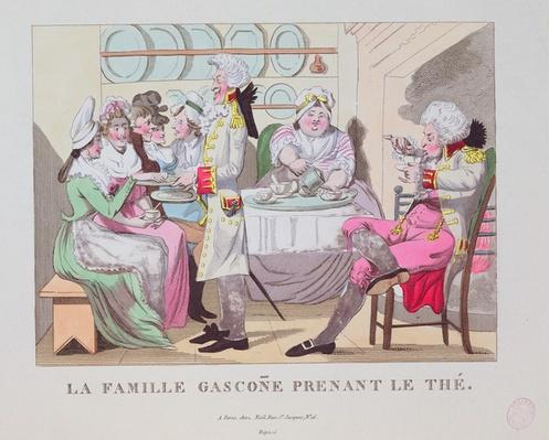 A Family from Gascony Drinking Tea, 1815