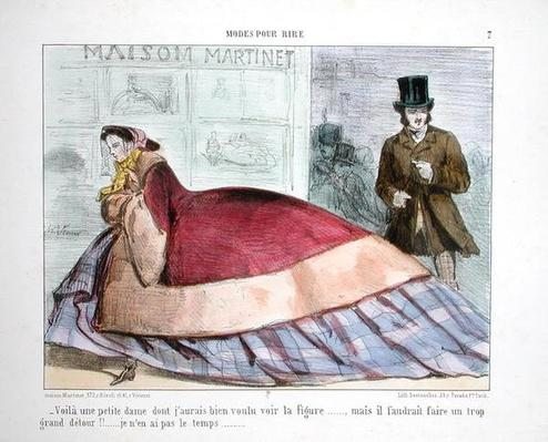 Caricature of the crinoline, from 'Modes Pour Rire'