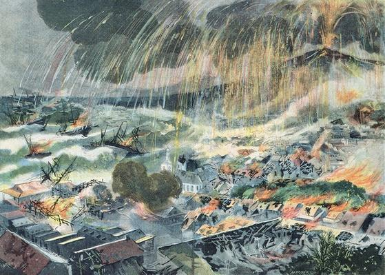 Eruption of a Volcano on Martinique, from 'Le Petit Parisien', 15th May 1902