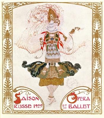 Cover of a programme for the Russian Season of Opera and Ballet, 1909