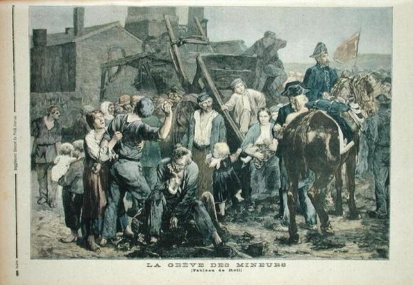 The Miner's Strike in Carmaux, from 'Le Petit Journal', 1st October 1892