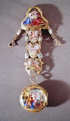 Watch and chatelaine depicting Dido and Aeneas, c.1785