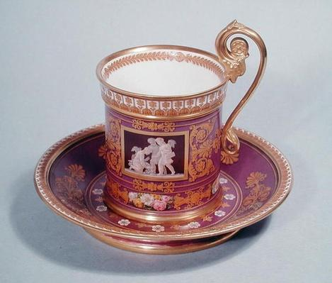 Cup and saucer ordered by Marie-Caroline de Bourbon