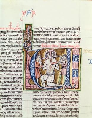 Ms 21 fol.98v The Martyrdom of Isaiah, from a Bible
