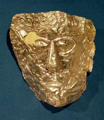 Funerary mask, from the Trebeniste Necropolis, Lake Ohrid, Macedonia