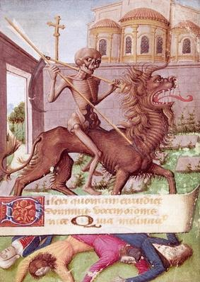 Ms 89 fol.88 The Triumph of Death, from a Book of Hours