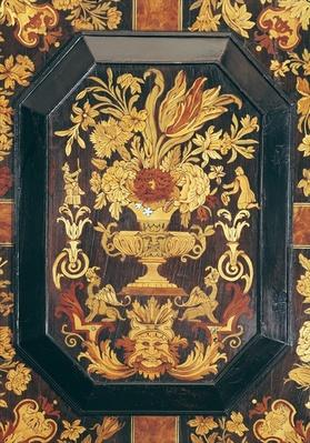 Marquetry detail from a buffet