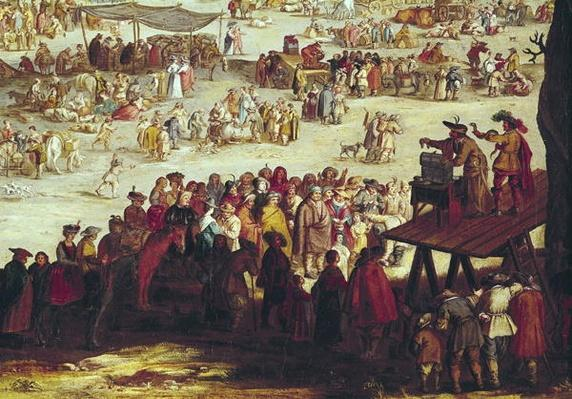 The Fair at Impruneta, detail of the right hand side, 1638