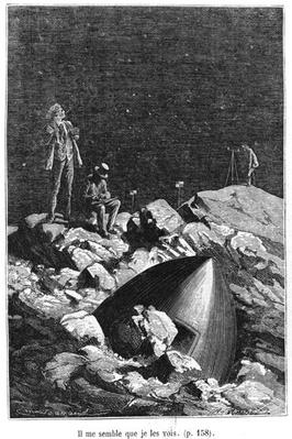 Illustration from 'From the Earth to the Moon' by Jules Verne