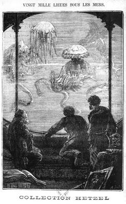 The Nautilus Passengers, illustration from '20,000 Leagues Under the Sea' by Jules Verne