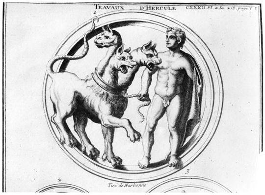 Cerberus Tamed by Hercules