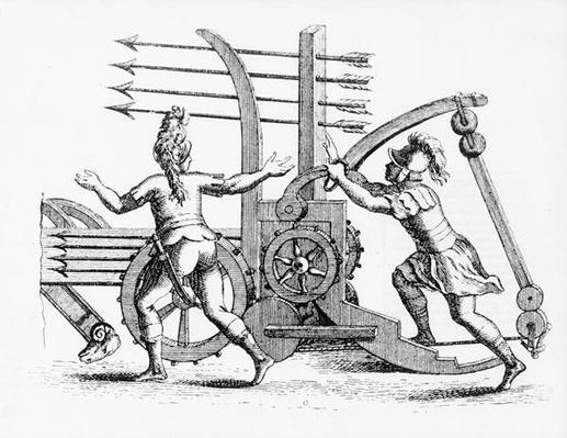 Roman war machine for firing spears
