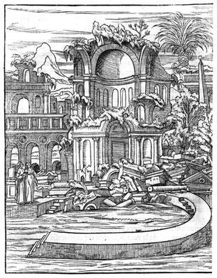 Roman Ruins, from 'Le Songe de Poliphile' by Francois Rabelais