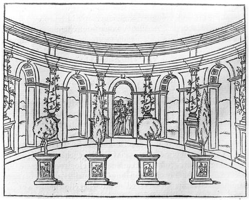 Theleme Abbey, from 'Le Songe de Poliphile' by Francois Rabelais