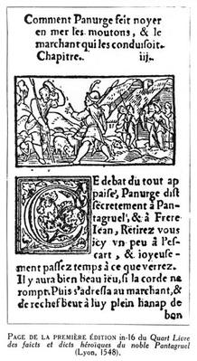 'How Panurge Drowned the Sheep', from 'Quart Livre' by Francois Rabelais