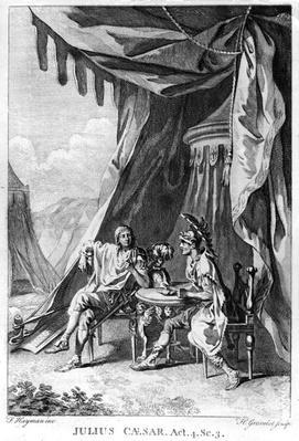Brutus and Cassius in Brutus's Tent, Act IV Scene iii from 'Julius Caesar' by William Shakespeare