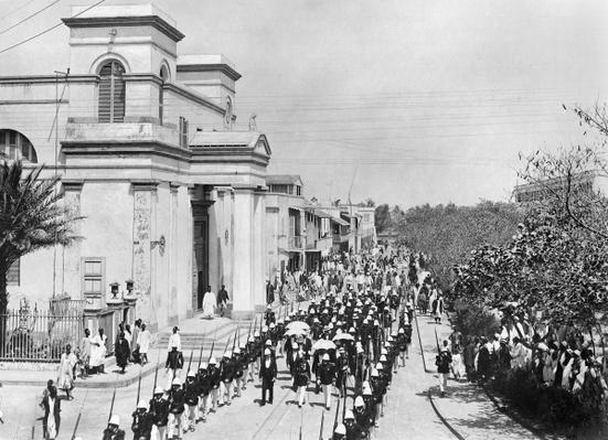 Military Parade, Saint-Louis, Senegal, c.1900