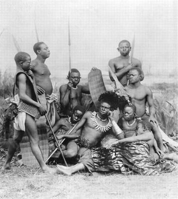 Warriors, Belgian Congo, 1894