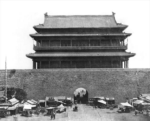 Entrance to the inner wall, Peking, China, c.1900