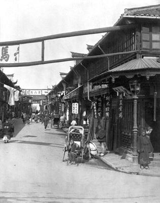 Chinatown in Shanghai, late 19th century