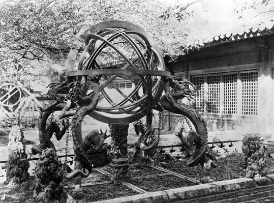 Astronomical instruments at the Imperial Observatory, Peking, China, c.1900