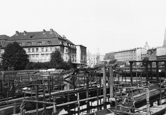 View from 'Fischerinsel', Berlin, c.1910