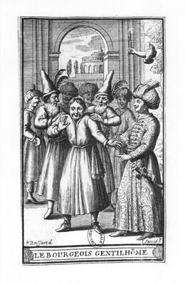 Illustration from 'Le Bourgeois Gentilhomme' by Moliere