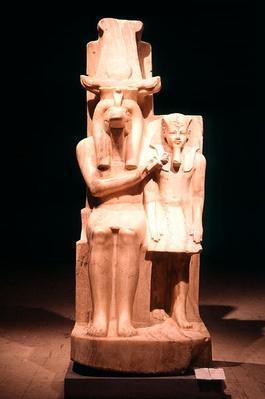 Sobek Offering an Ankh to Amenhoteop III