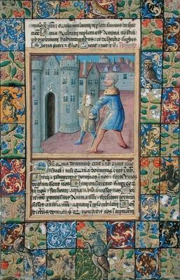 Ms Lat. Q.v.I.126 The Healing of the Blind Man, John 9:1-7 from the 'Hours of Louis d'Orleans', 1469