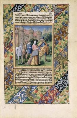 Ms Lat. Q.v.I.126 Scene from the 'Hours of Louis d'Orleans', 1469