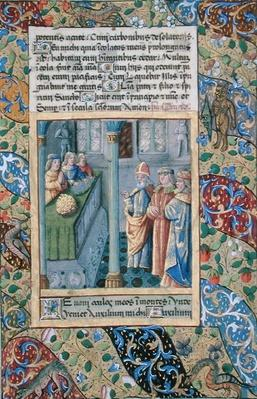 Ms Lat. Q.v.I.126 The Order of the Golden Fleece from the 'Hours of Louis d'Orleans', 1469