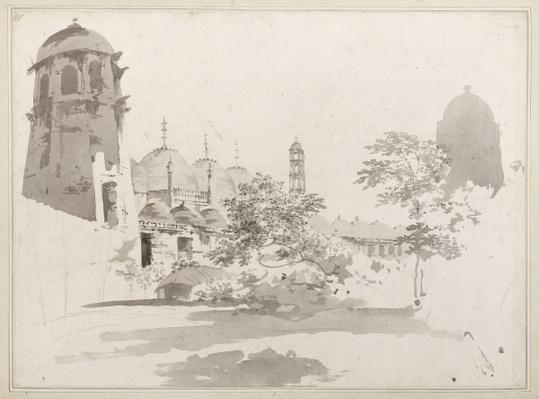 A View of the Cuttera Built by Jaffier Cawn at Murishidbad, c.1781