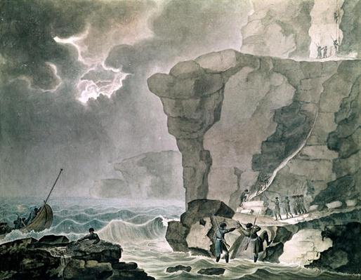 Landing of the Conspirators in the Cadoudal Affair at the Cliff of Biville near Dieppe, 16th January 1804