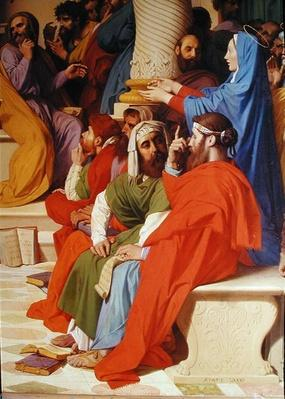 Jesus Among the Doctors, detail of the doctors and the Virgin Mary, 1862