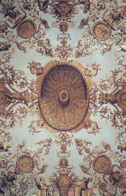 Detail of the ceiling in the Grand Salon, 17th-18th century