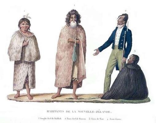 Natives of New Zealand, from 'Voyage Autour du Monde sur la Corvette La Coquille