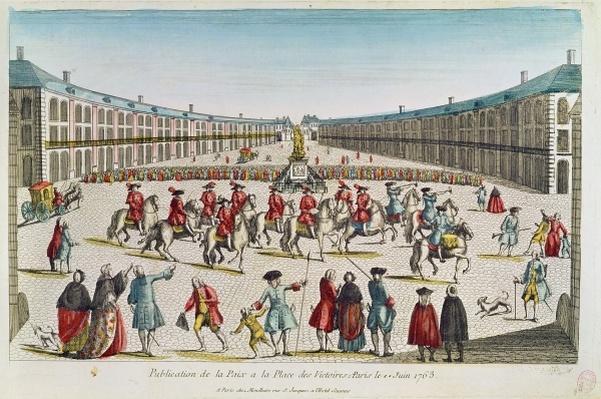 Publication of the Peace, Place des Victoires, June 1763