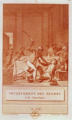 Negro Uprising in Jamaica in 1759, engraved by David
