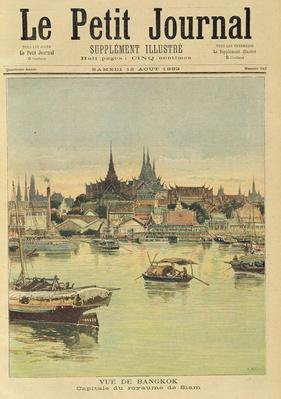 View of Bangkok, from 'Le Petit Journal', 12th August 1893