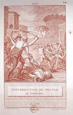Insurrection of the American People in 1768, engraved by David