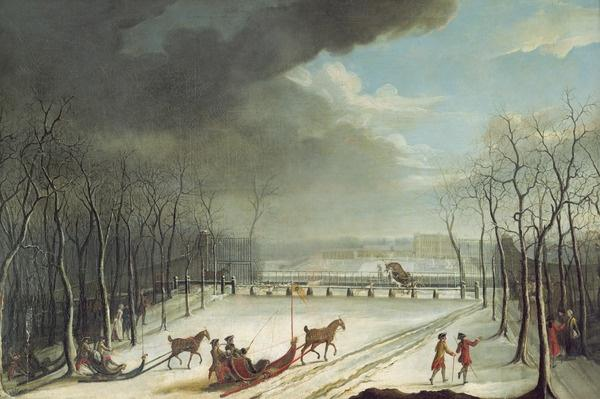 The Prince of Conde Hunting in a Sleigh in 1767