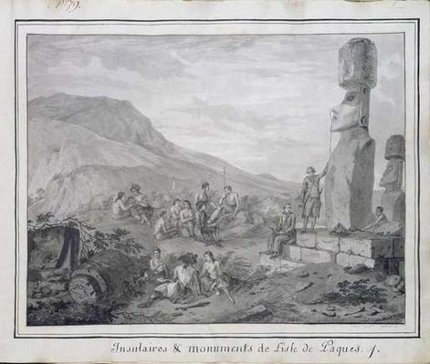 Islanders & Monuments of Easter Island, 1786