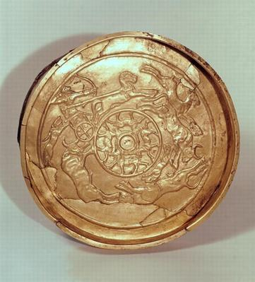 Dish with a hunting scene, from Ras Shamra, Syria, c.1250-1150 BCE