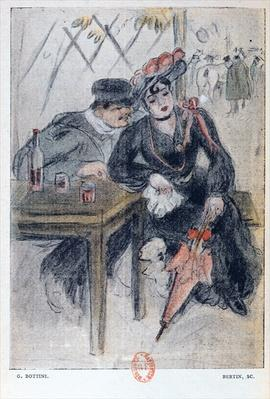 A Prostitute and her Client, illustration from 'La Maison Philibert' by Jean Lorrain