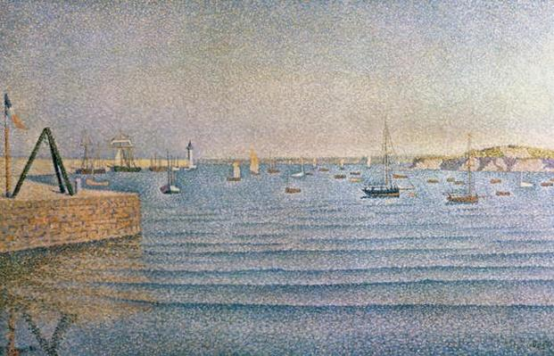The Harbour at Portrieux, 1888 by Signac, Paul (1863-1935)