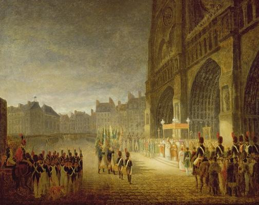 Blessing of the Flags in Front of Notre-Dame in 1804