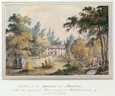 Sketch in the Gardens at Aulnay, 1817